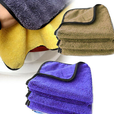 Fiber Shine Wax Polishing Drying Plush Washing Towel For Car Vehicle Motor