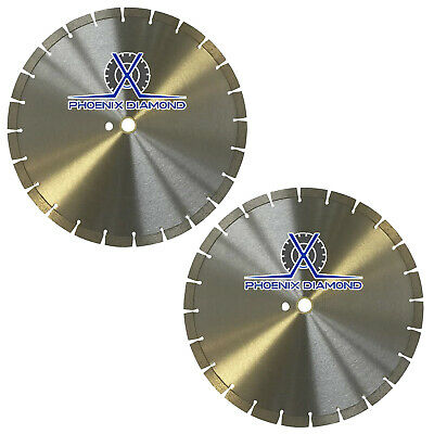 2PCS 14-Inch General Purpose Segmented Diamond Saw Blade for Concrete & Masonry