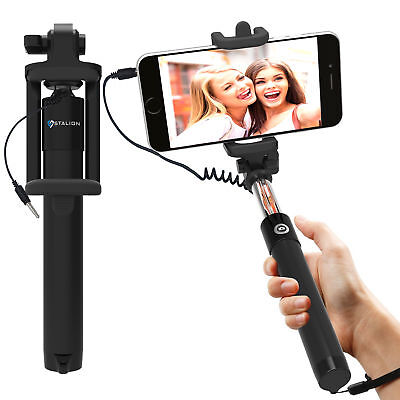 Stalion® Selfy Handheld Extendable Wired Remote Monopod Selfie Stick LOT OF 100