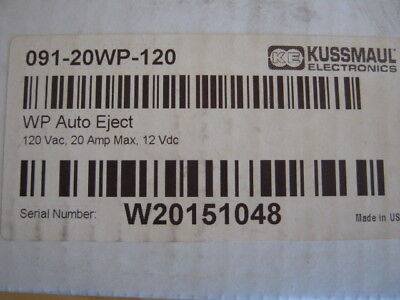 Kussmaul WP Auto Eject, Model #: 091-20WP-120 and cover, New Old Stock, EMS Fire