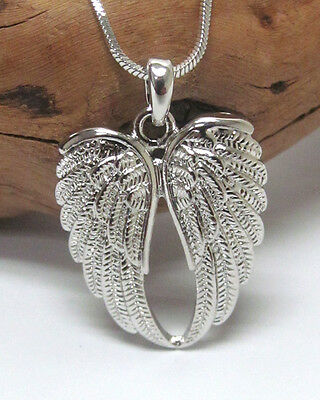 ANGEL WINGS Necklace White Gold Plated Designer Style Angel Wings Necklace