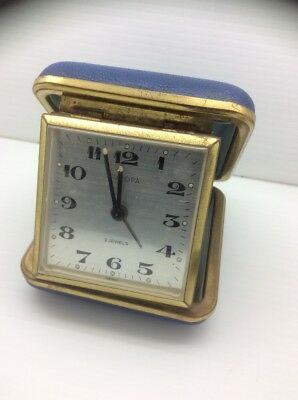 Vintage Retro West German Travel Alarm Clock by Europa