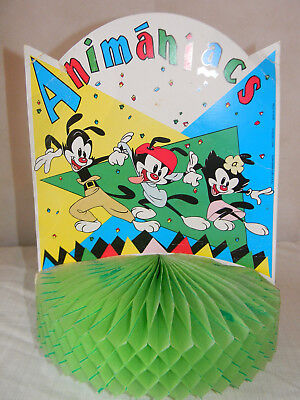 1994 Animaniacs Cardboard Honeycomb Centerpiece Birthday 13 Inches Tall Wb