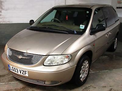 March 2003 03 CHRYSLER VOYAGER 2.5 CRD SE 5 Spd. 7 Seater REAR ENTERTAINMENT DVD