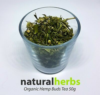 Premium Quality Grown Crushed Organic Hemp Flower Buds Tea 50g - 500g