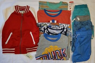 Boys 5T Clothing Lot Cat & jack Genuine Kids Shorts Shirt Jacket New Cool Outfit