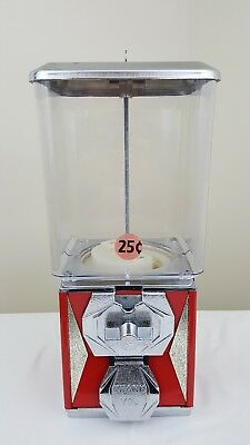 VINTAGE RED AND CHROME A&A GLOBAL CANDY VENDING MACHINE Plastic Globe with Key