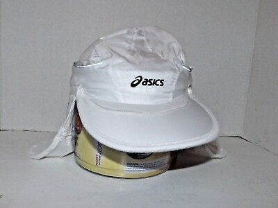 beb861e7223 Asics Sol Shade 2 In 1 Cap Hat Unisex White One Size ZC1012 Running New (