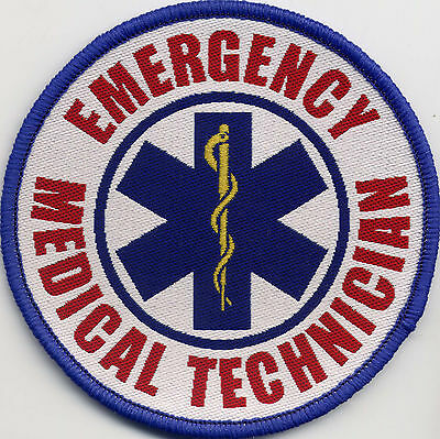 Emergency Medical Technician Star of Life Badge Patch 88mm Circle