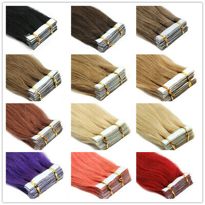 "8A* Best Quality 14''-24"" Tape-In Russian Remy Human Hair Extensions UK Sell 1st"