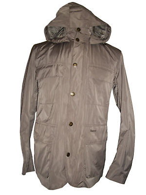 NEW NWT Men's BARBOUR Beige Thurso Hooded Waterproof Jacket Coat LARGE $399