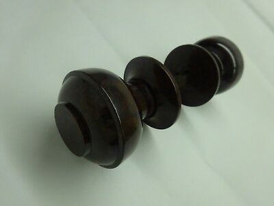 Vintage Pair Of Reclaimed Brown Bakelite Door Knob Handles