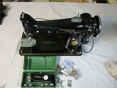 Singer 201-2 Sewing Machine -Fully Cleaned and Serviced.