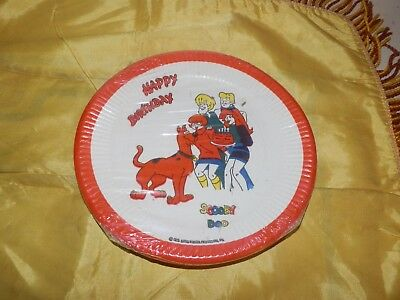 Scarce 1972 Dated Scooby Doo Happy Birthday Plates-Sealed in Plastic by Beach