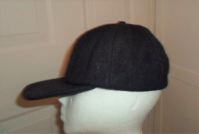 3edb70fd90e Vtg Brooks Brothers Wool Baseball Cap Hat NAVY BLUE Embroidered BB Union  Label