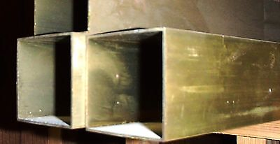 "BRASS SQUARE TUBING 1 X 1"" SOLD BY the FOOT"