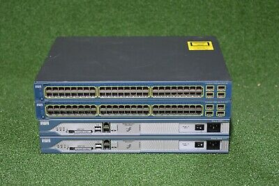 CISCO CCNA CCNP CCIE Lab w/ Cisco 2811, WS-C3560-48PS-S, WIC-2T-1 YEAR WARRANTY