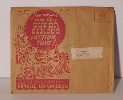 Vintage Canada Dry Super Circus Paper Action Toys 1950's
