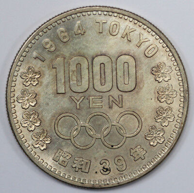 Japan 1964 'Olympic' Silver 1000 Yen. Choice Uncirculated