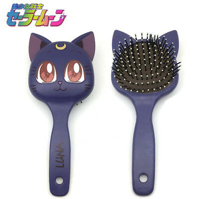 Sailor Moon Luna Cat Paddle Cushion Curl Hair Massage Brush Comb Hairbrush New