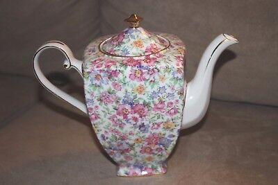 Vintage Royal Cotswolds Chintz China Teapot Very Hard To Find Perfect Perfect!!