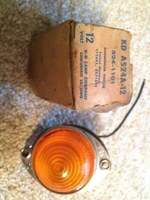 NOS Vintage KD A524A-12 Amber Clearance Light Aluminum Finish 524-1101
