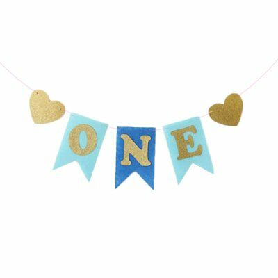 Baby Shower ONE Letter Heart Banner Home DIY Hanging Celebration Party Decor