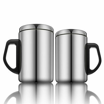 Stainless Steel Insulated Thermal Cup Flask Travel Water Drink Tea Mug 350/500ml