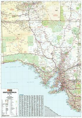 South Australia Hema 700 x 1000mm State Laminated Wall Map with Hang Rails