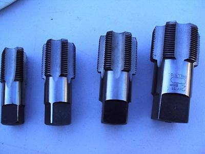 "BSP parallel Pipe Large Taps  1""- 1.1/4""-1.1/2"" & 2"" all starter Taps 4 items"