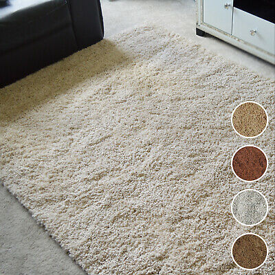 Small X Large Fluffy Shaggy Rugs Soft Plain Dining Room Mats Floor Carpets