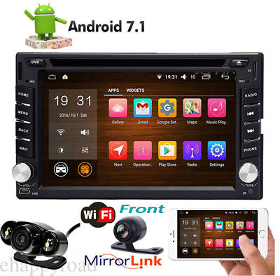"""6.2"""" Smart Android 6.0 4G WiFi Double 2DIN Car Radio Stereo DVD Player GPS+2 Cam"""