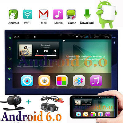 """7"""" Smart Android 6.0 4G WiFi Double 2DIN Car Radio Stereo NO-DVD Player GPS+Cam"""