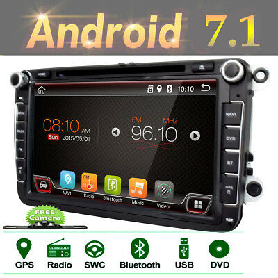 """Special for VW Volkswagen car HD 8"""" Android 7.1 Car GPS Stereo dvd player+camera"""