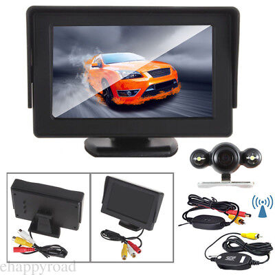 """4.3""""TFT LCD Car Color Monitor For Rearview Vehicle Backup Parking Camera Kit"""