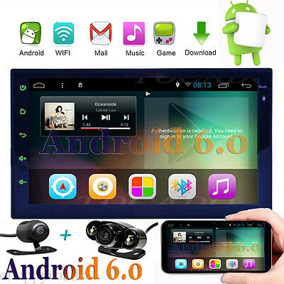 7 inch Android 6.0 2 Din In Dash Car No DVD Radio Stereo Player WiFi 3G GPS Navi