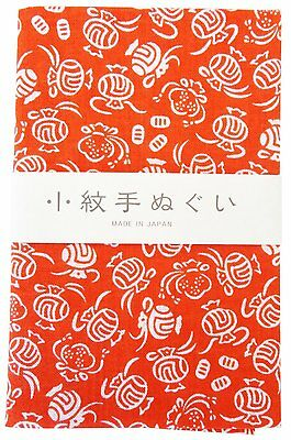 Japanese traditional towel TENUGUI KOMON KOZUCHI NEW COTTON MADE IN JAPAN