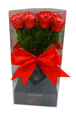Mini Dozen Solid Milk Chocolate Roses (14g x 12pc box)