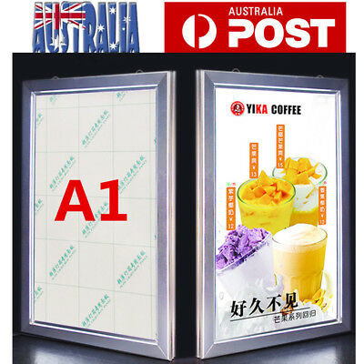 A1 LED Light Box Menu/Poster Display Backlit Board 867x620x28MM Silver