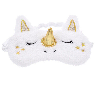 Plush Sleep Unicorn Mask Eye Shade Cover for Girl Kid Teen Blindfold Travel Home
