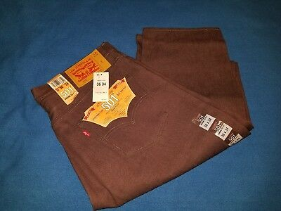 NWT Men's Levis original fit 501straight leg button fly shrink to fit jeans36/34