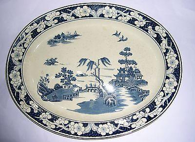 """Vintage Booths Silicon China Oval Meat Platter (approx 16"""" x 13"""") Full Marks."""