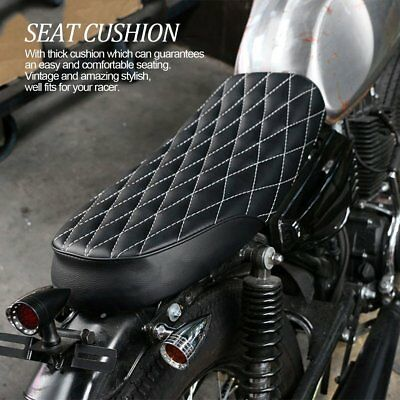 Universal Motorcycle Lattice Black Racer Hump Cushion Tracker Seat Saddle AU