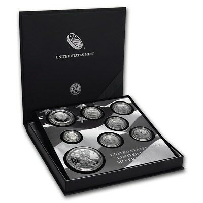 2017 S Proof Silver Eagle Limited Edition Proof Set 17Rc In Ogp