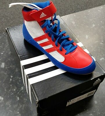 Adidas HVC Boxing Boots- Size 7- Red/White/Blue
