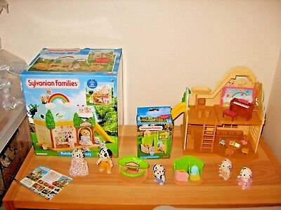 sylvanian families boxed nursery and toilet set bundle, accessories and figures