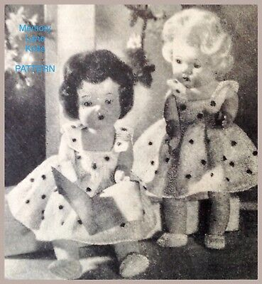 Summer Dress Pants & Shoes Doll Clothes Knitting Vintage PATTERN 4B