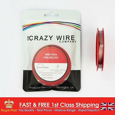 0.32mm (28 AWG) - Comp Ni80 Wire (Nichrome) - 13.6 ohms/m