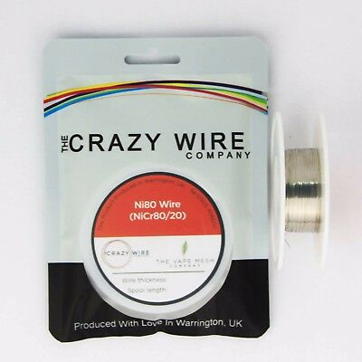 0.4mmx 0.1mm Flat Ribbon - Comp Ni80 Resistance Wire (Nichrome) - 27.37 ohms/m