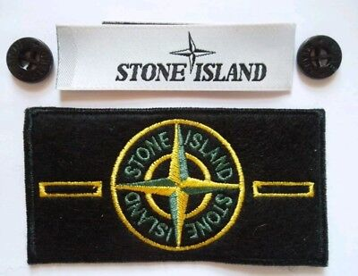 stone island original badge/patch, X2 buttons and silk label